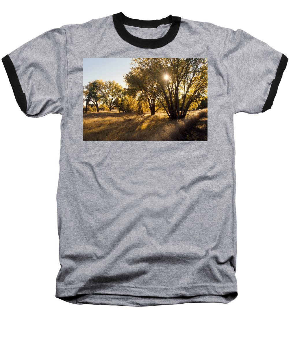 Fall Baseball T-Shirt featuring the photograph Autum Sunburst by Jerry McElroy