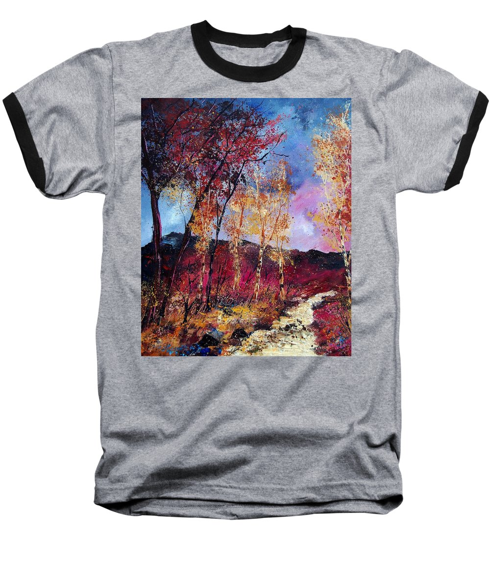 Landscape Baseball T-Shirt featuring the painting Autumn 760808 by Pol Ledent