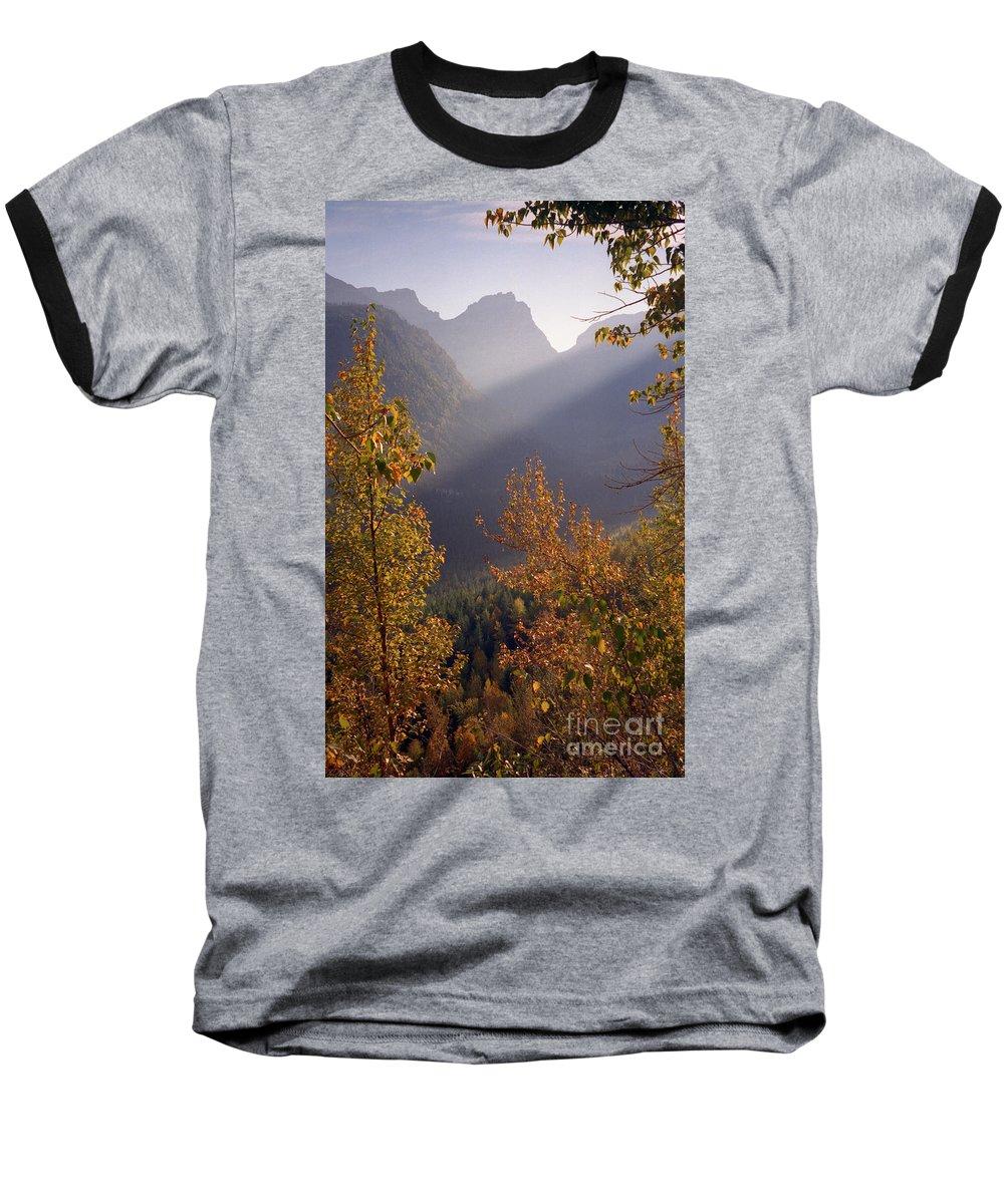Mountains Baseball T-Shirt featuring the photograph Autumn At Logan Pass by Richard Rizzo