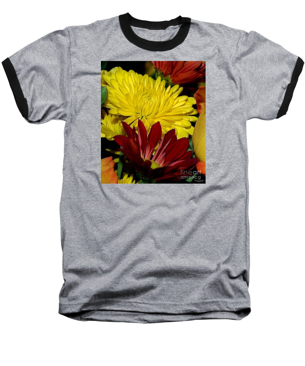 Chrysanthemum Photography Baseball T-Shirt featuring the photograph Autumn Colors by Patricia Griffin Brett