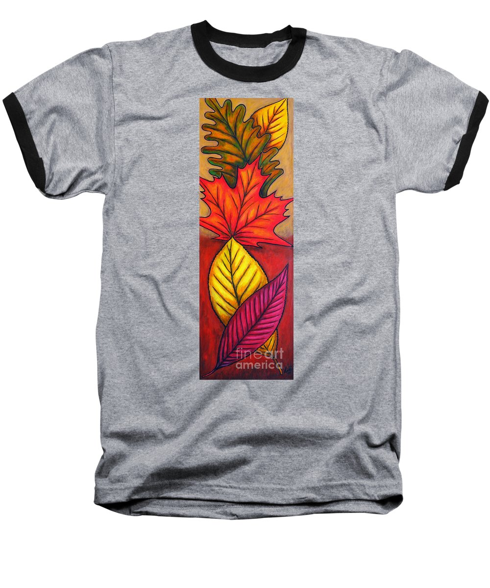 Autumn Baseball T-Shirt featuring the painting Autumn Glow by Lisa Lorenz