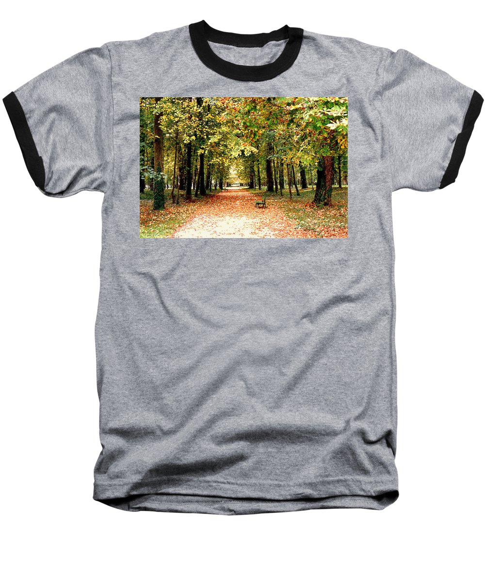 Autumn Baseball T-Shirt featuring the photograph Autumn In The Park by Nancy Mueller