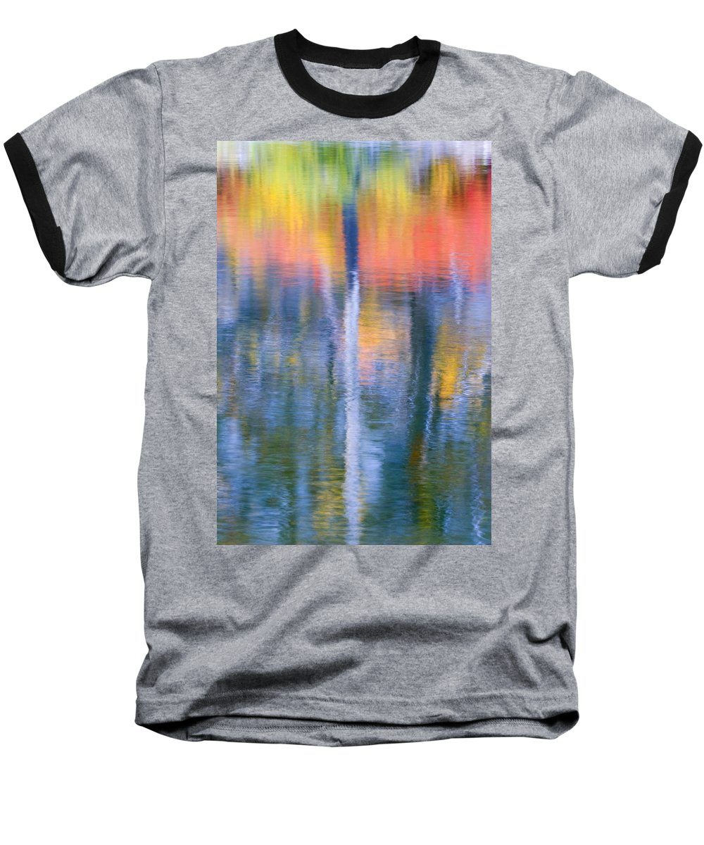 Reflection Baseball T-Shirt featuring the photograph Autumn Resurrection by Mike Dawson