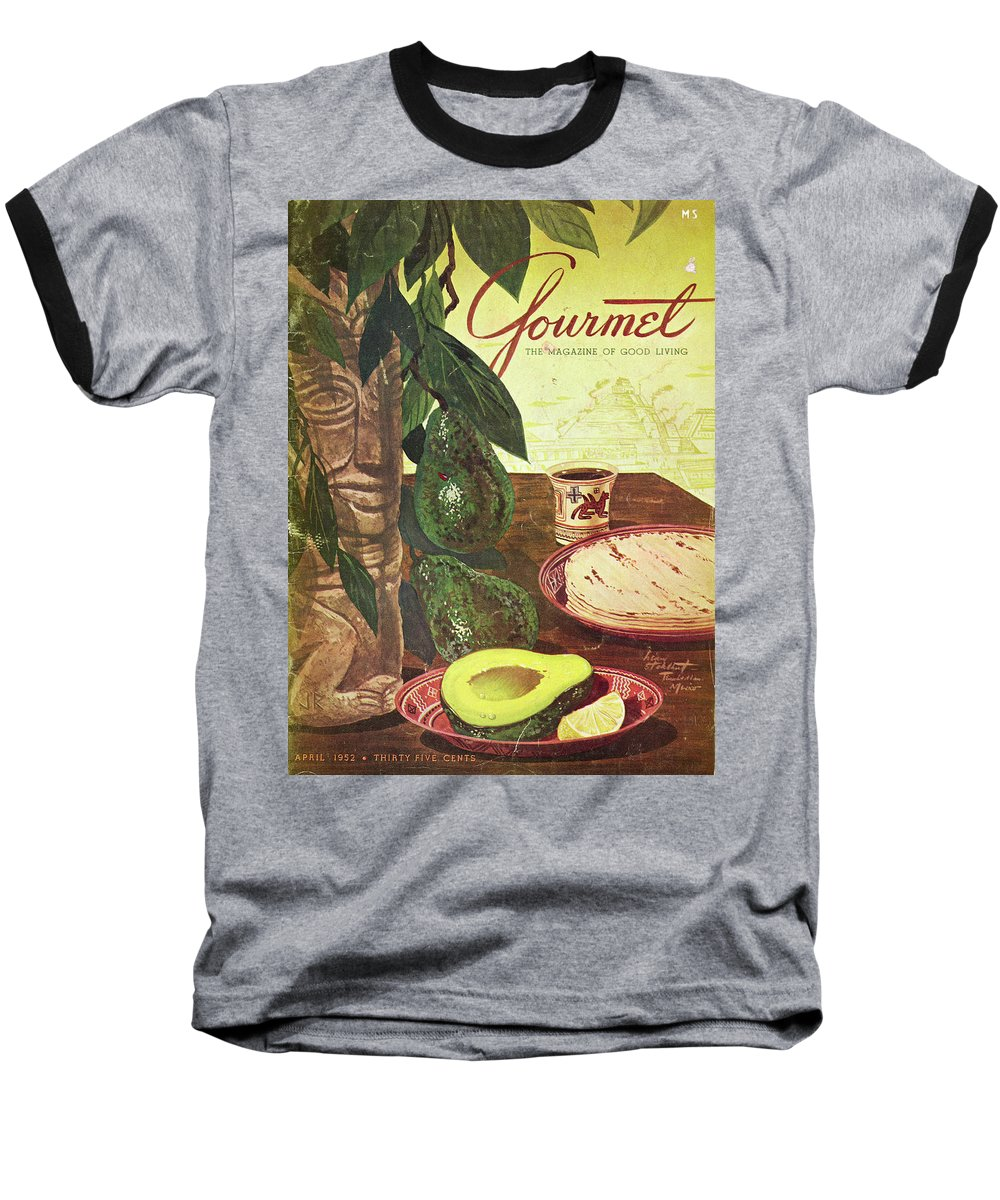 Food Baseball T-Shirt featuring the photograph Avocado And Tortillas by Henry Stahlhut
