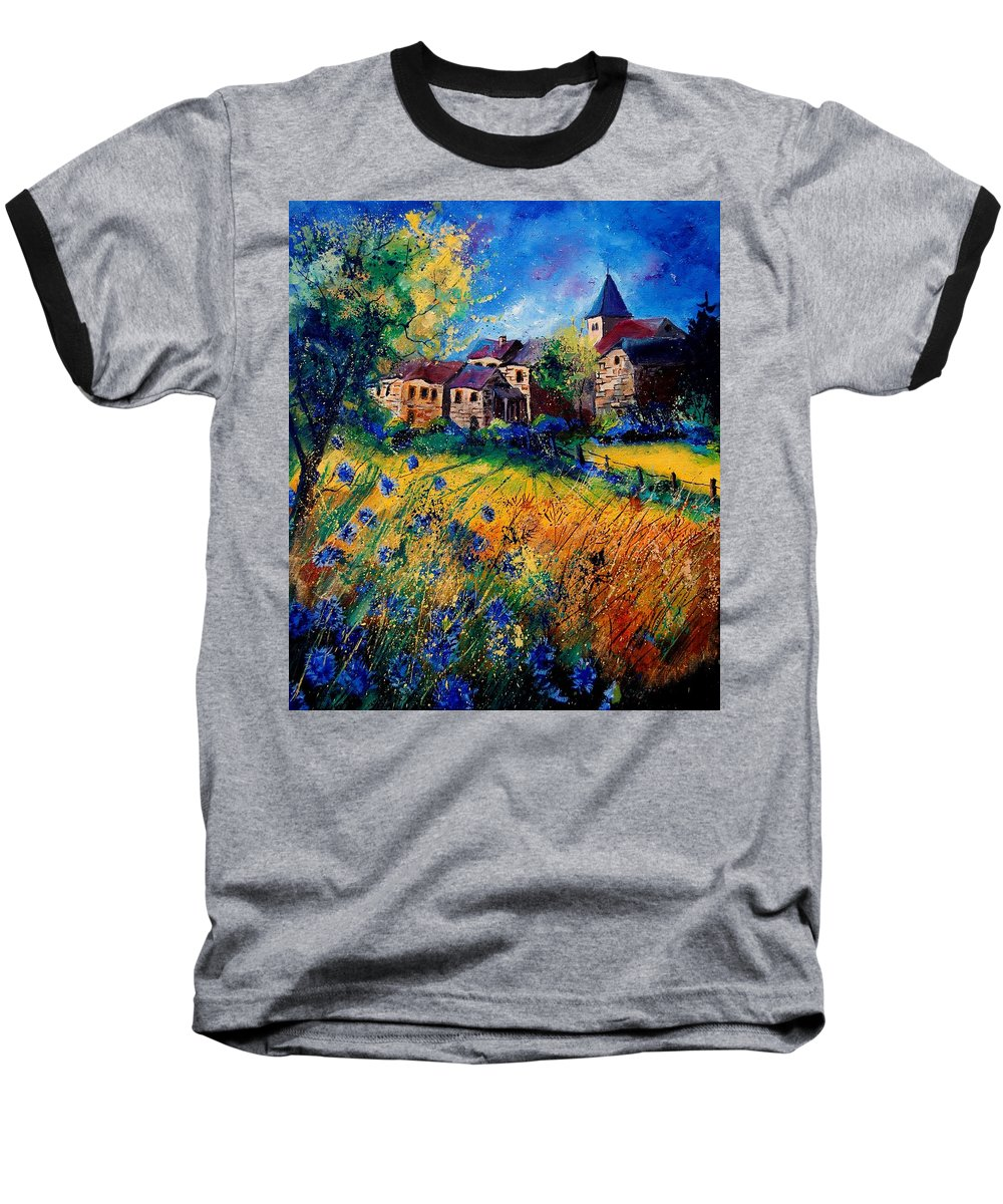 Tree Baseball T-Shirt featuring the painting Awagne 67 by Pol Ledent