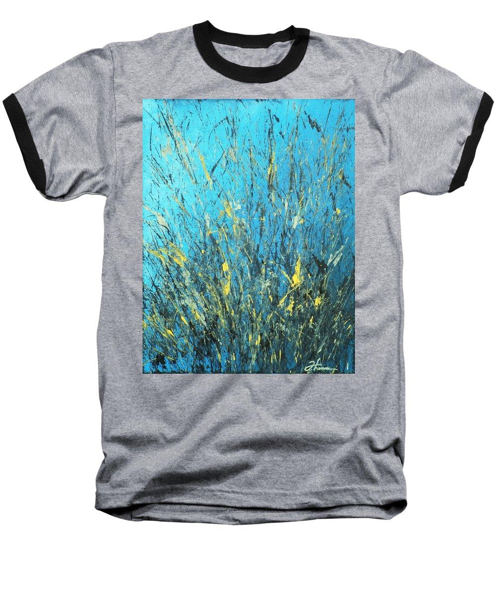 Splash Baseball T-Shirt featuring the painting Awakening by Todd Hoover