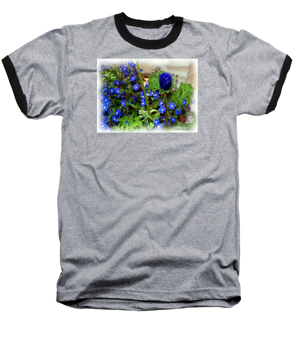 Fine Art Baseball T-Shirt featuring the painting Babys Got The Blues by Patricia Griffin Brett