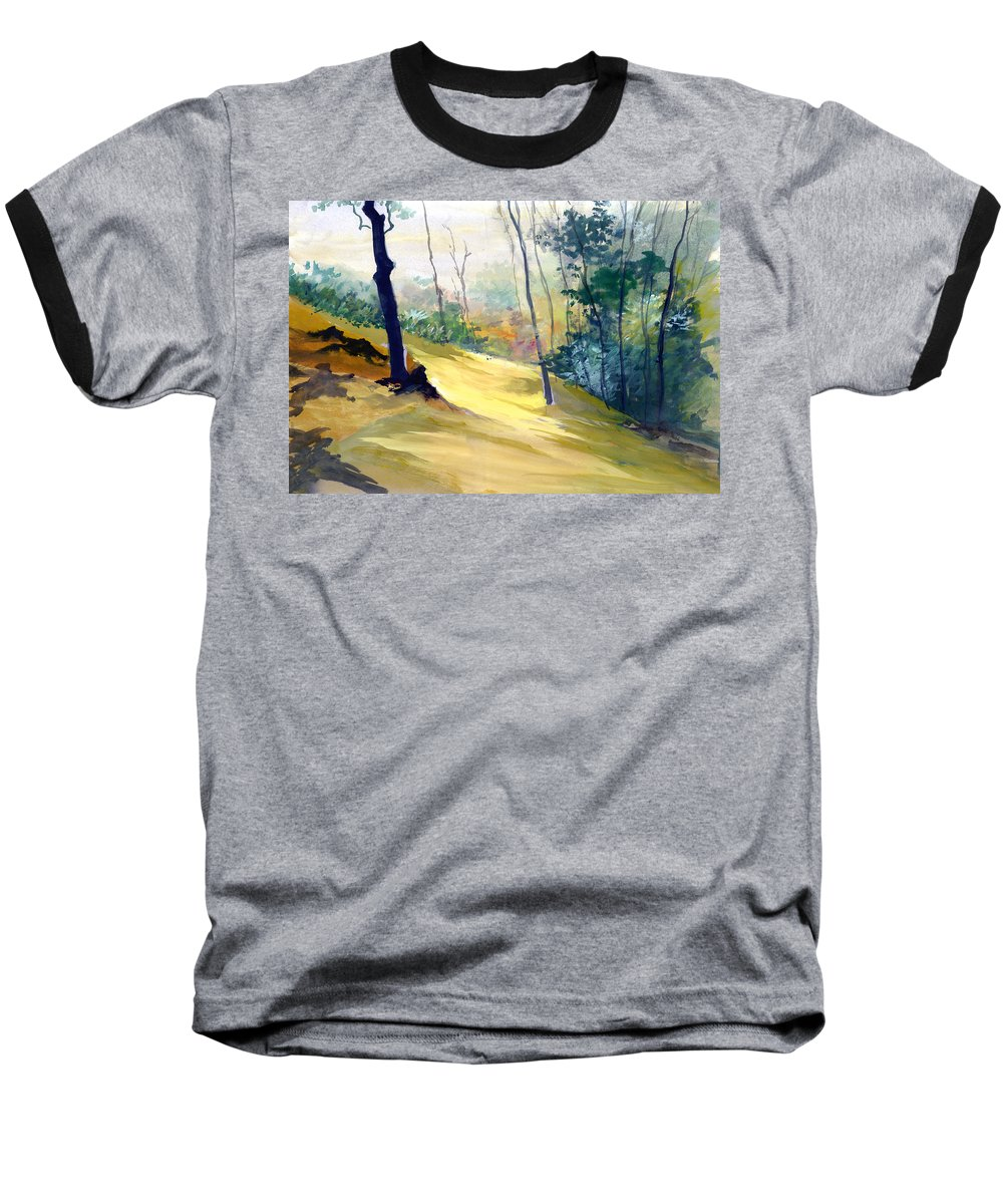 Landscape Baseball T-Shirt featuring the painting Balance by Anil Nene