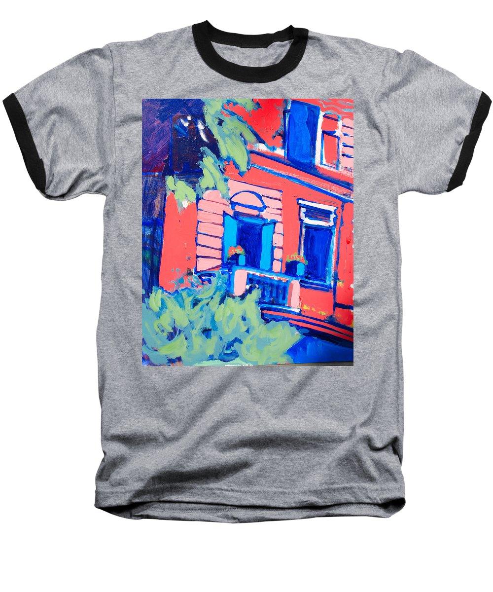 Balcony Baseball T-Shirt featuring the painting Balcone by Kurt Hausmann