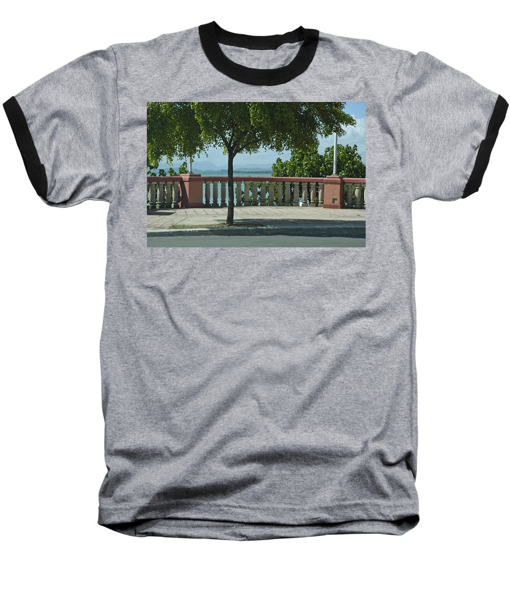 Landscape Baseball T-Shirt featuring the photograph Balcony On The Beach In Naguabo Puerto Rico by Tito Santiago
