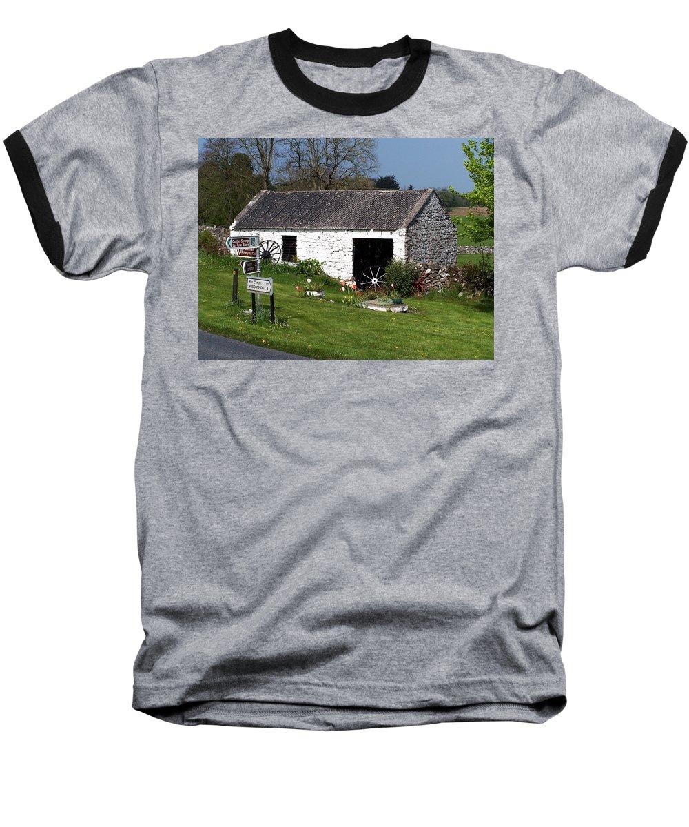 Ireland Baseball T-Shirt featuring the photograph Barn At Fuerty Church Roscommon Ireland by Teresa Mucha