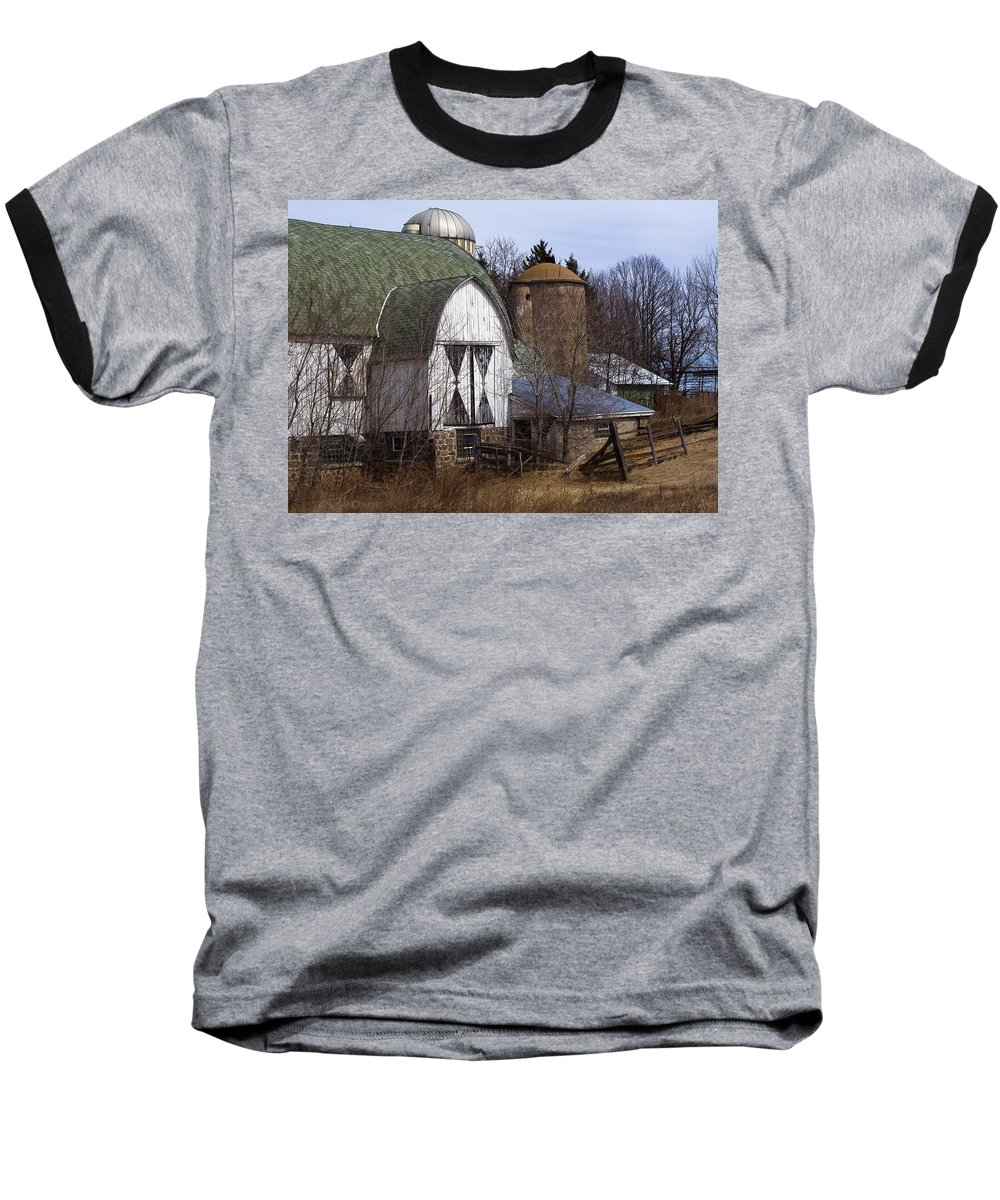 Barn Baseball T-Shirt featuring the photograph Barn On 29 by Tim Nyberg