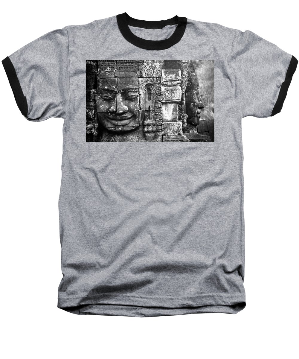 Bayon Temple Baseball T-Shirt featuring the photograph Bayon IIi by Patrick Klauss