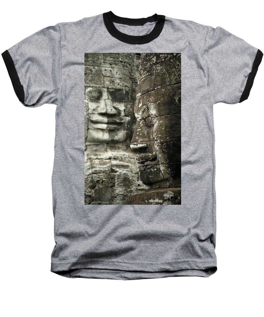 Bayon Baseball T-Shirt featuring the photograph Bayonii by Patrick Klauss