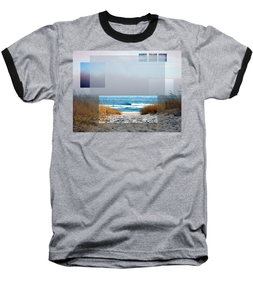 Beach Baseball T-Shirt featuring the photograph Beach Collage by Steve Karol