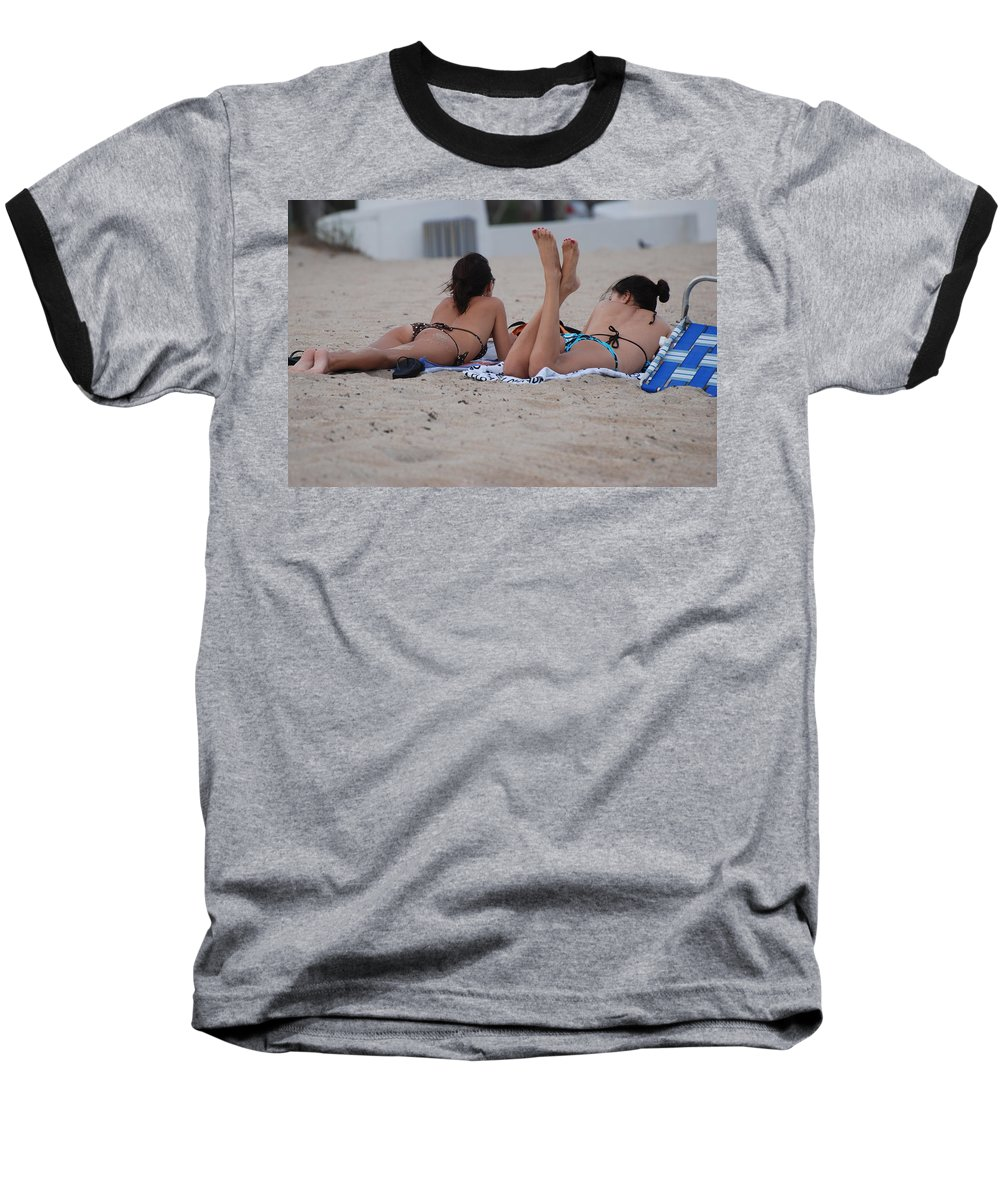 Girls Baseball T-Shirt featuring the photograph Beach Combers by Rob Hans