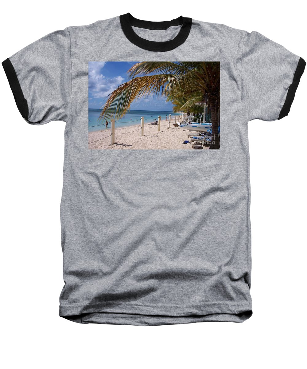 Beach Baseball T-Shirt featuring the photograph Beach Grand Turk by Debbi Granruth