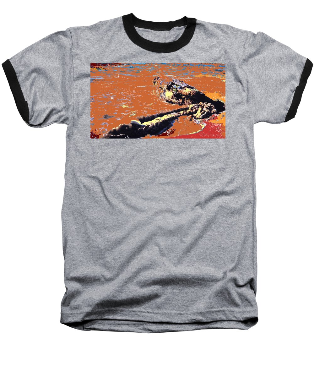 Rope Baseball T-Shirt featuring the photograph Beach Rope by Ian MacDonald
