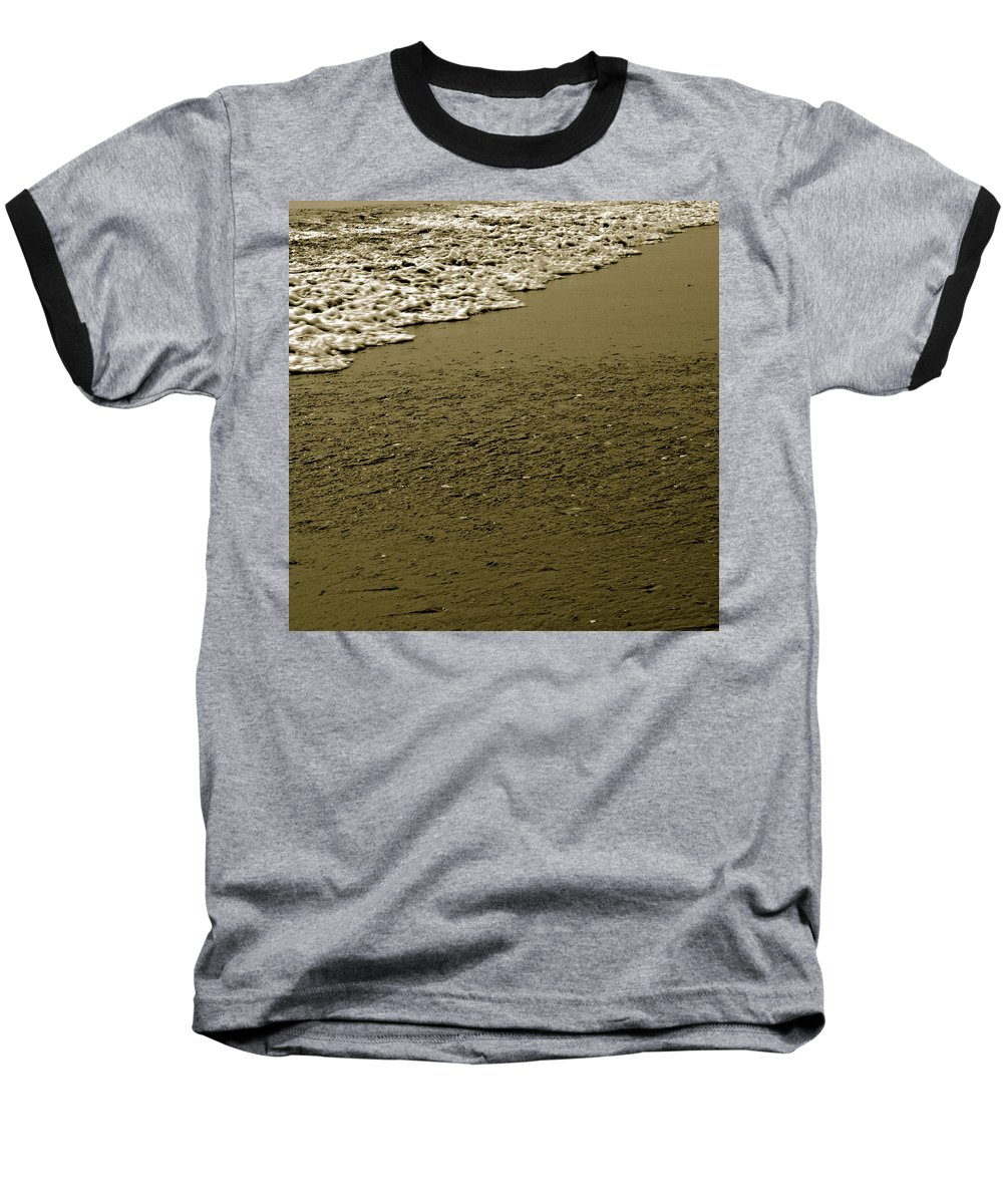 Water Baseball T-Shirt featuring the photograph Beach Texture by Jean Macaluso