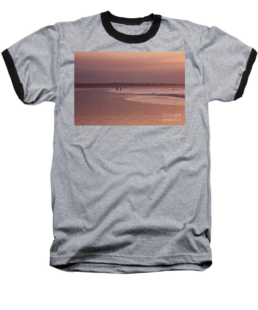 Ecuador Baseball T-Shirt featuring the photograph Beachcombers by Kathy McClure
