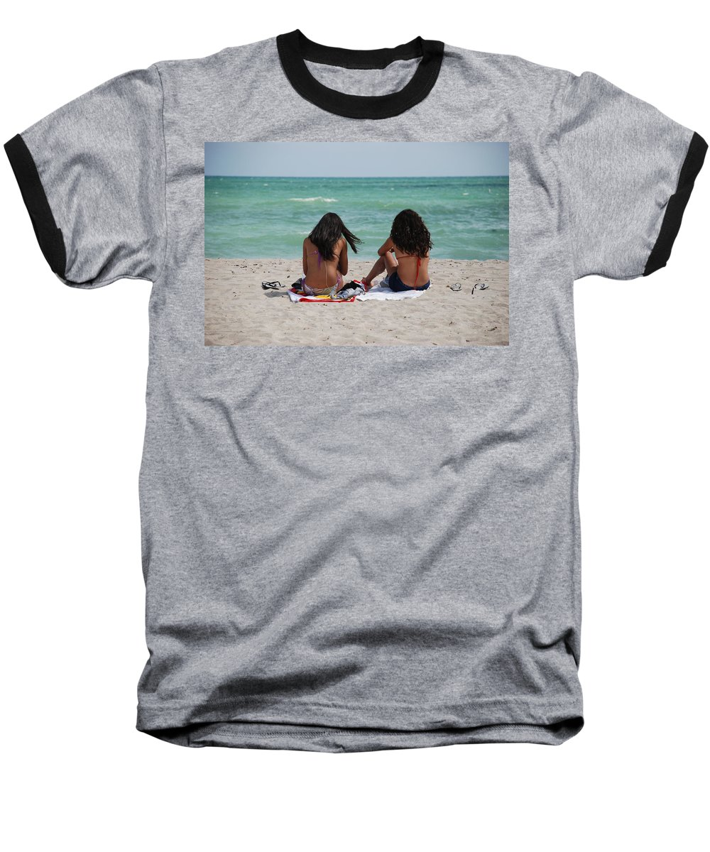 Women Baseball T-Shirt featuring the photograph Beauties On The Beach by Rob Hans