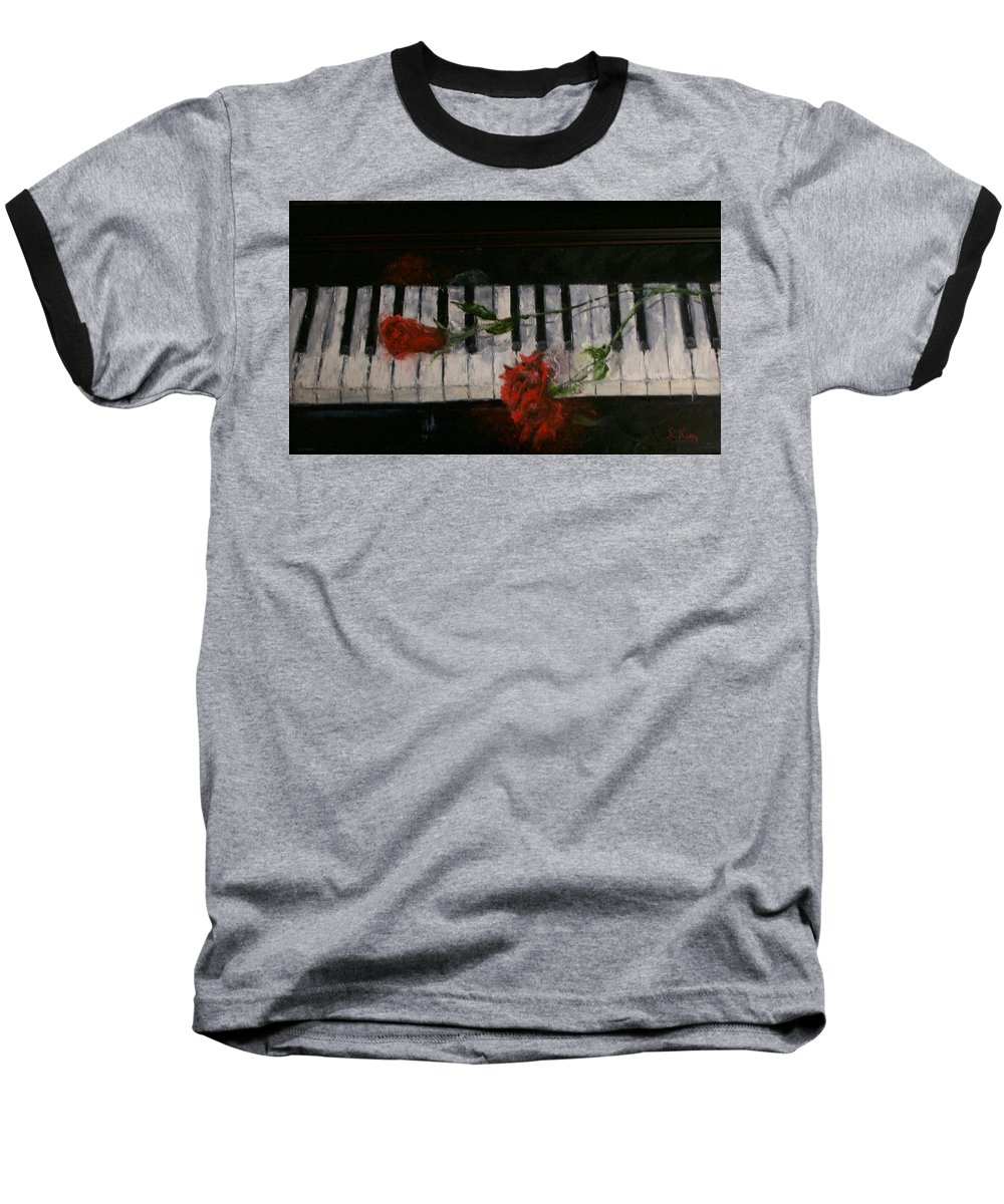 Still Life Baseball T-Shirt featuring the painting Before The Concert by Stephen King