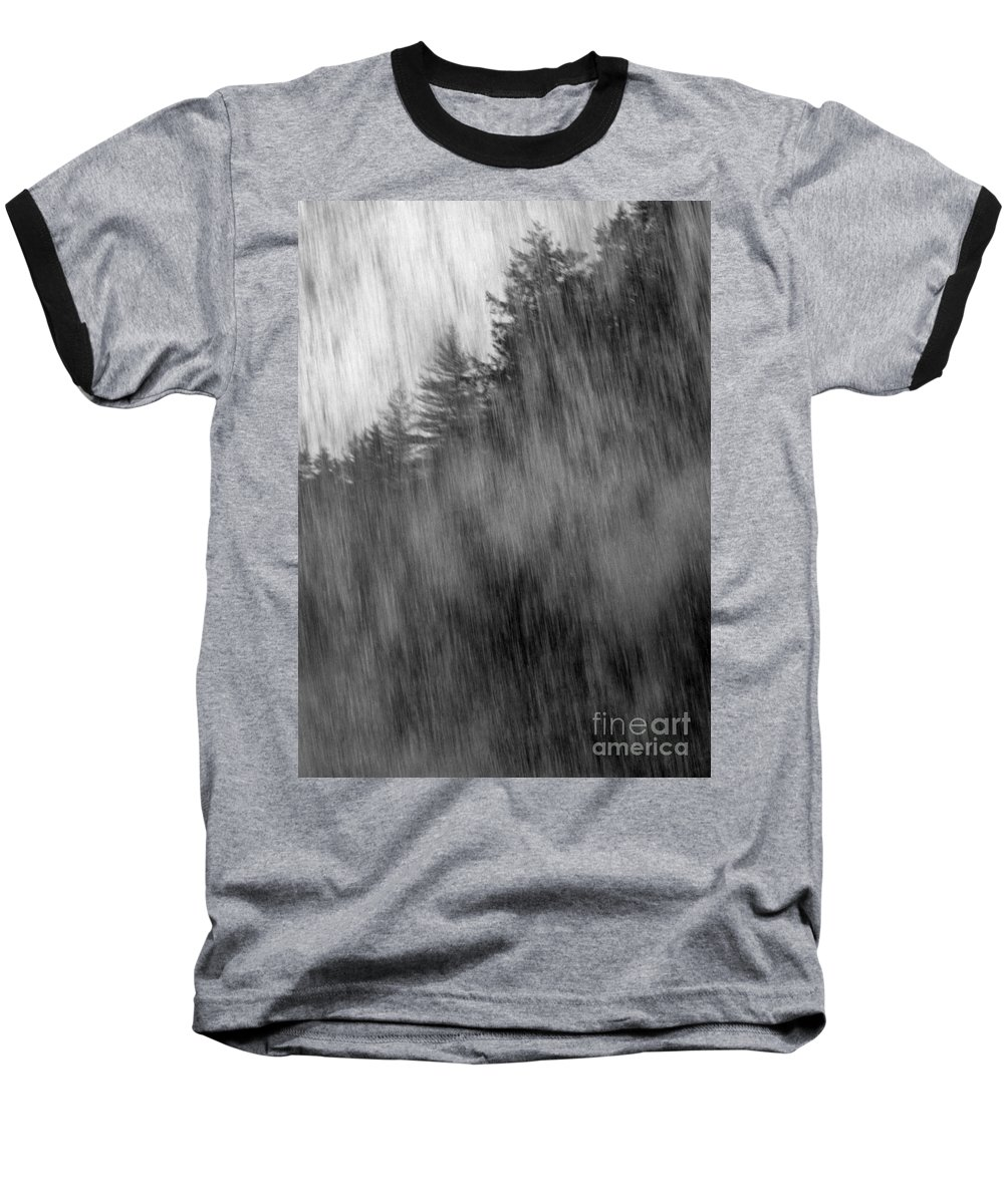 Waterfalls Baseball T-Shirt featuring the photograph Behind The Falls by Richard Rizzo