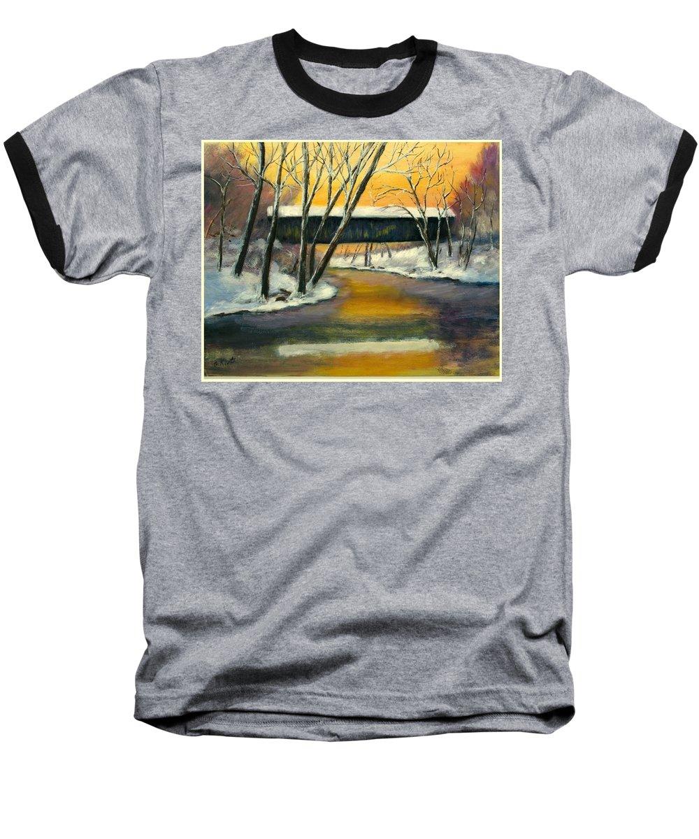 Kentucky Baseball T-Shirt featuring the painting Bennett by Gail Kirtz