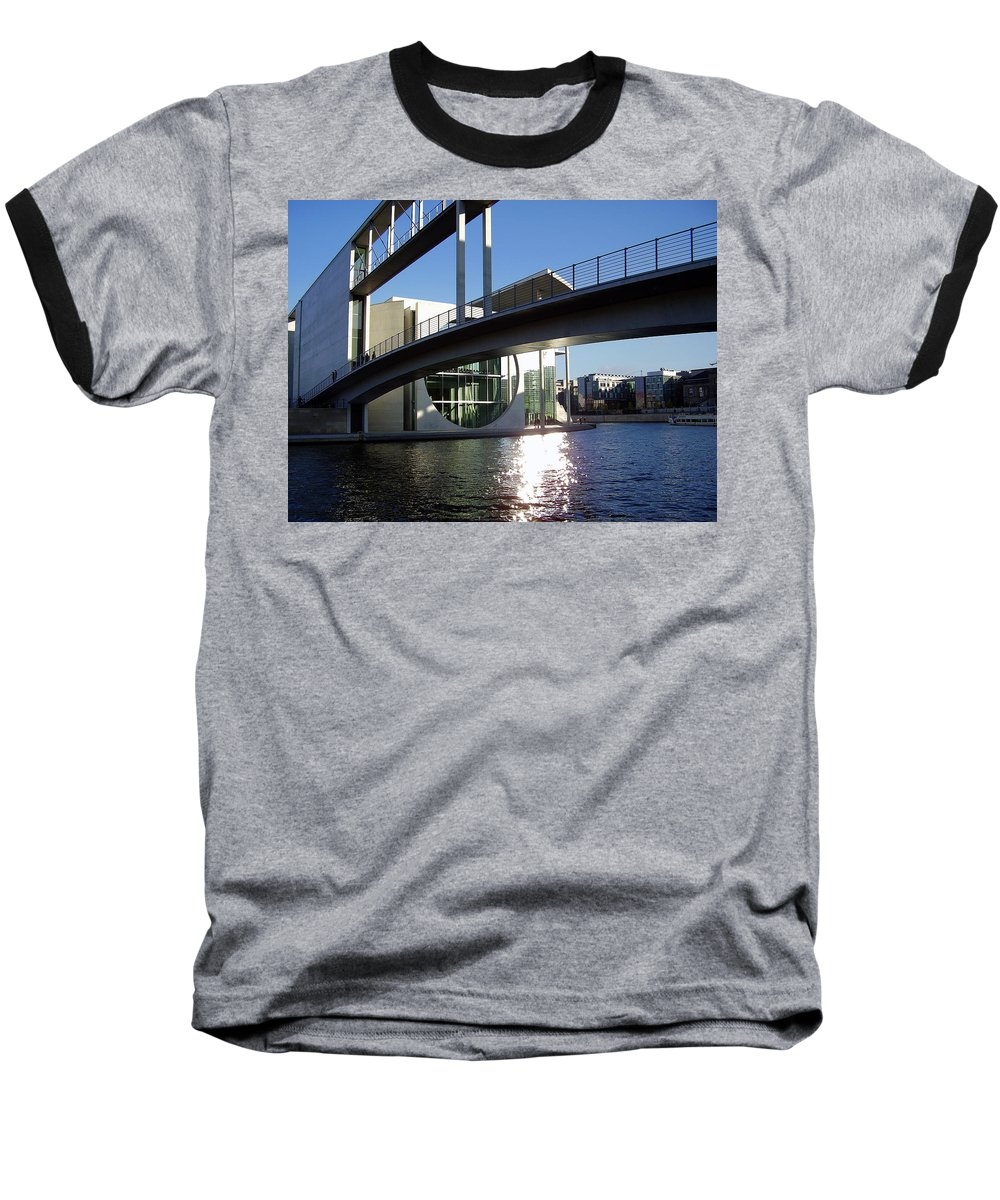 Marie-elisabeth-lueders Baseball T-Shirt featuring the photograph Berlin by Flavia Westerwelle