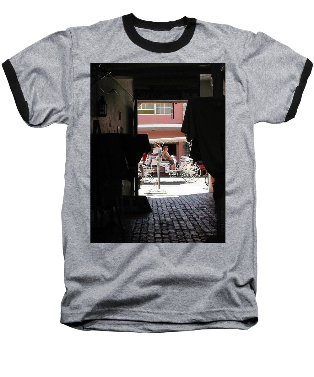 Bermuda Baseball T-Shirt featuring the photograph Bermuda Carriage by Ian MacDonald