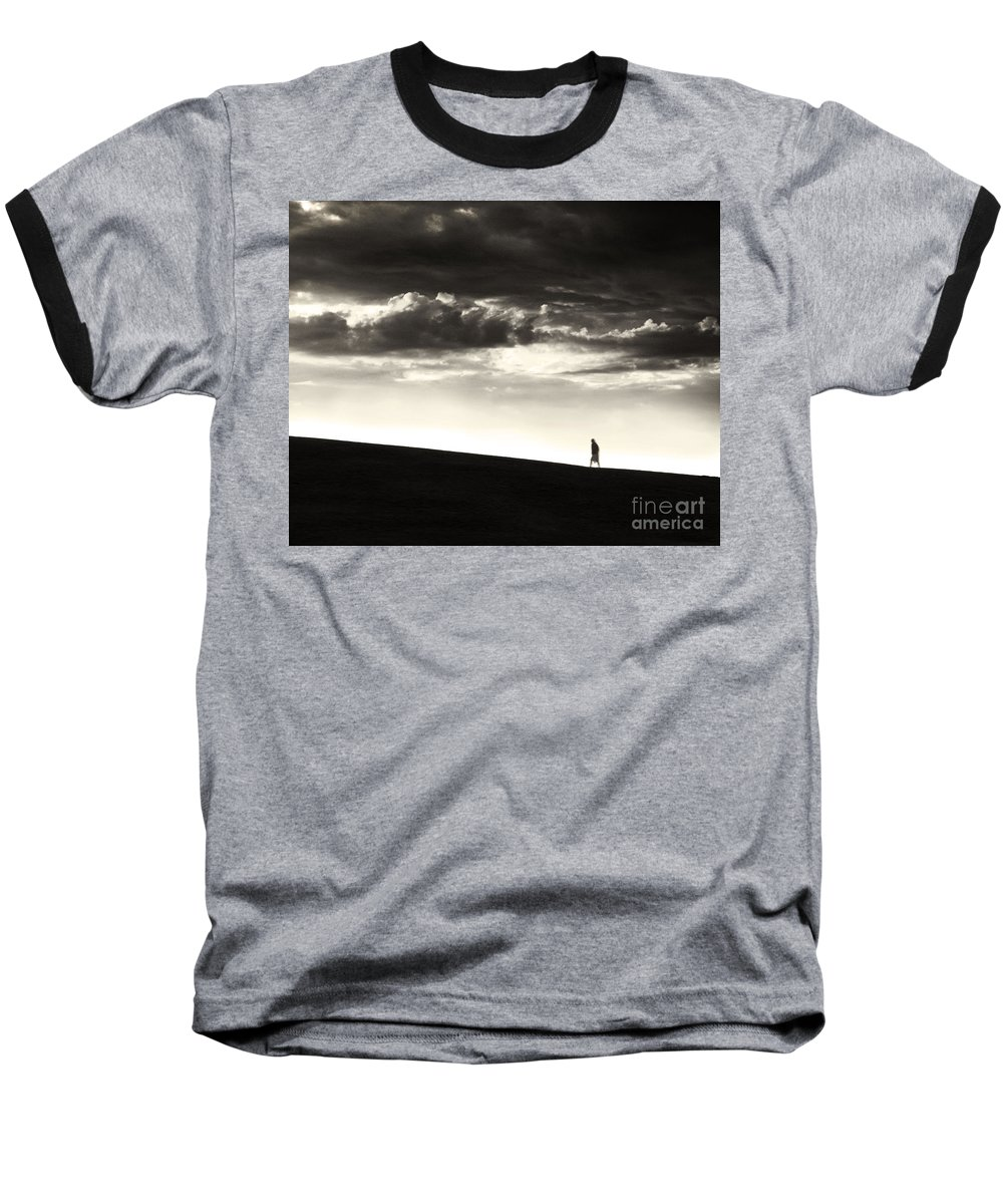 Man Baseball T-Shirt featuring the photograph Between Living And Dying by Dana DiPasquale