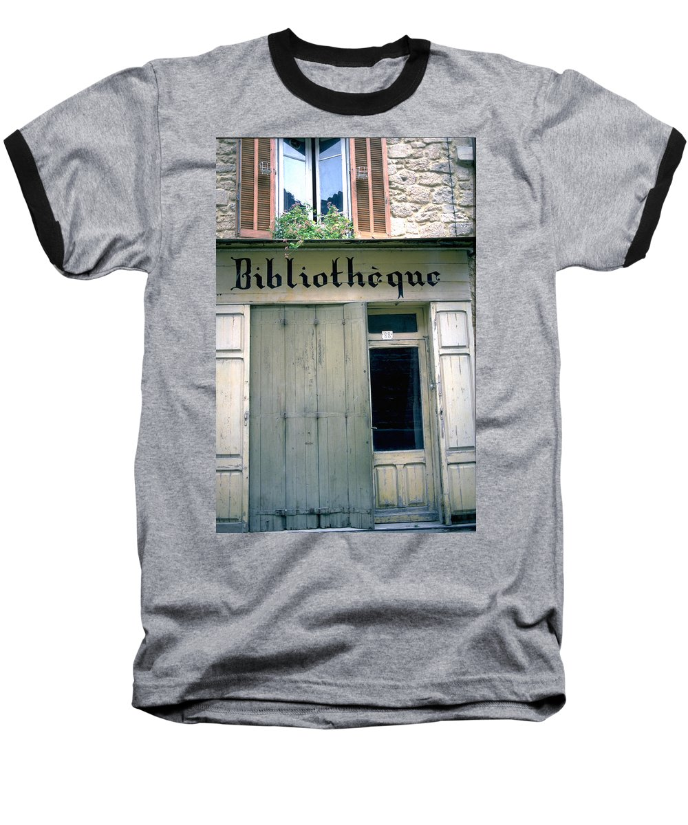 Bibliotheque Baseball T-Shirt featuring the photograph Bibliotheque by Flavia Westerwelle