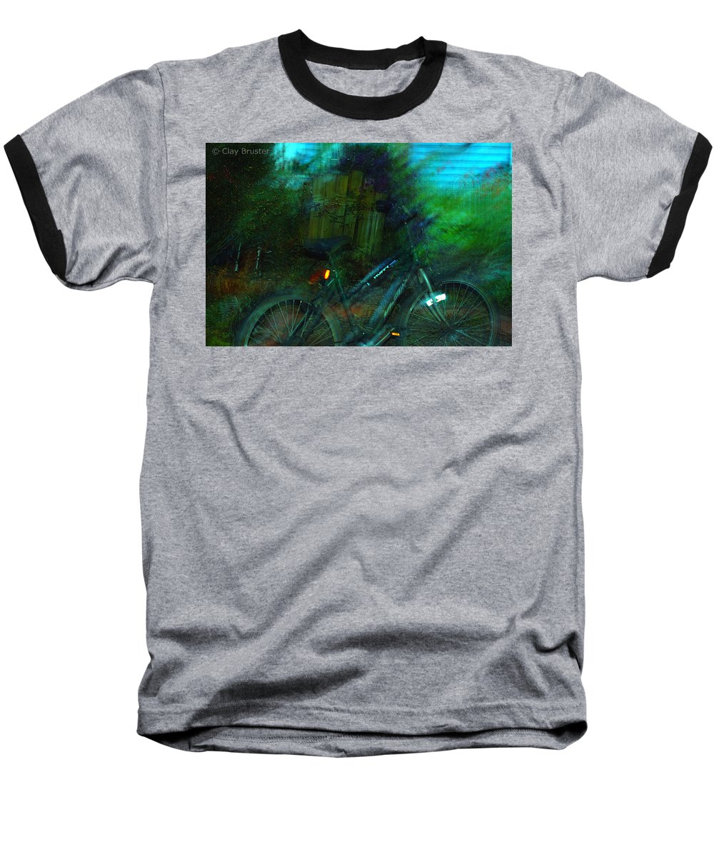 Clay Baseball T-Shirt featuring the photograph Bicycle by Clayton Bruster