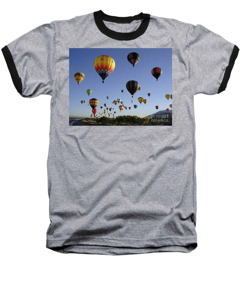 Flight Baseball T-Shirt featuring the photograph Big Balloons by Mary Rogers