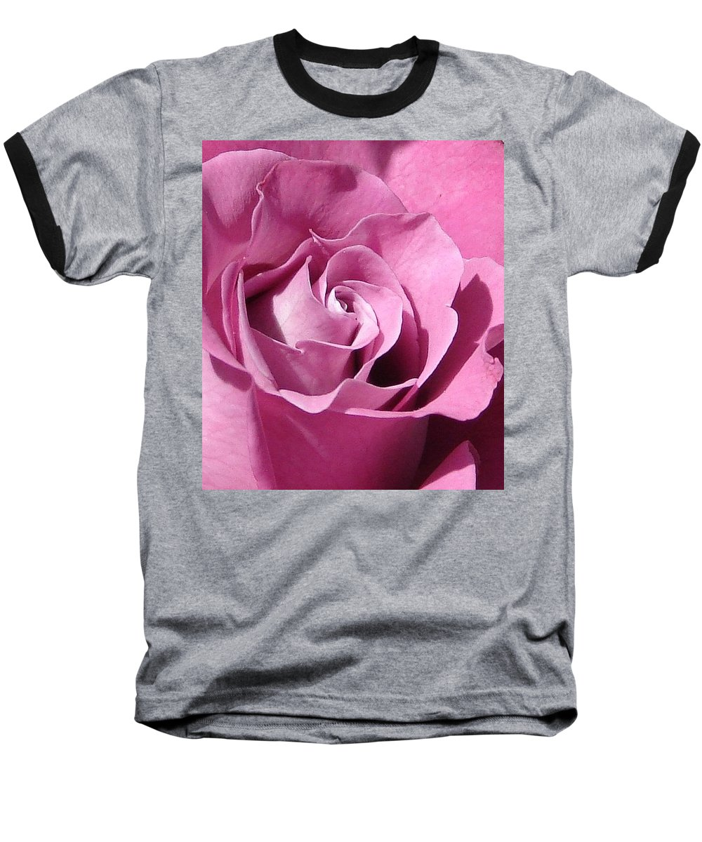 Rose Pink Baseball T-Shirt featuring the photograph Big Pink by Luciana Seymour