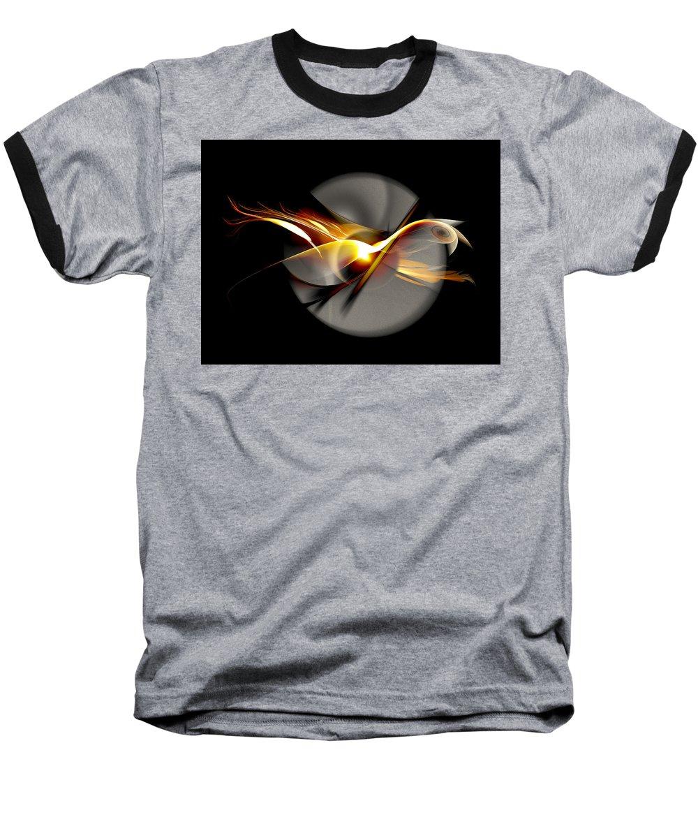 Bird Baseball T-Shirt featuring the digital art Bird Of Passage by Aniko Hencz