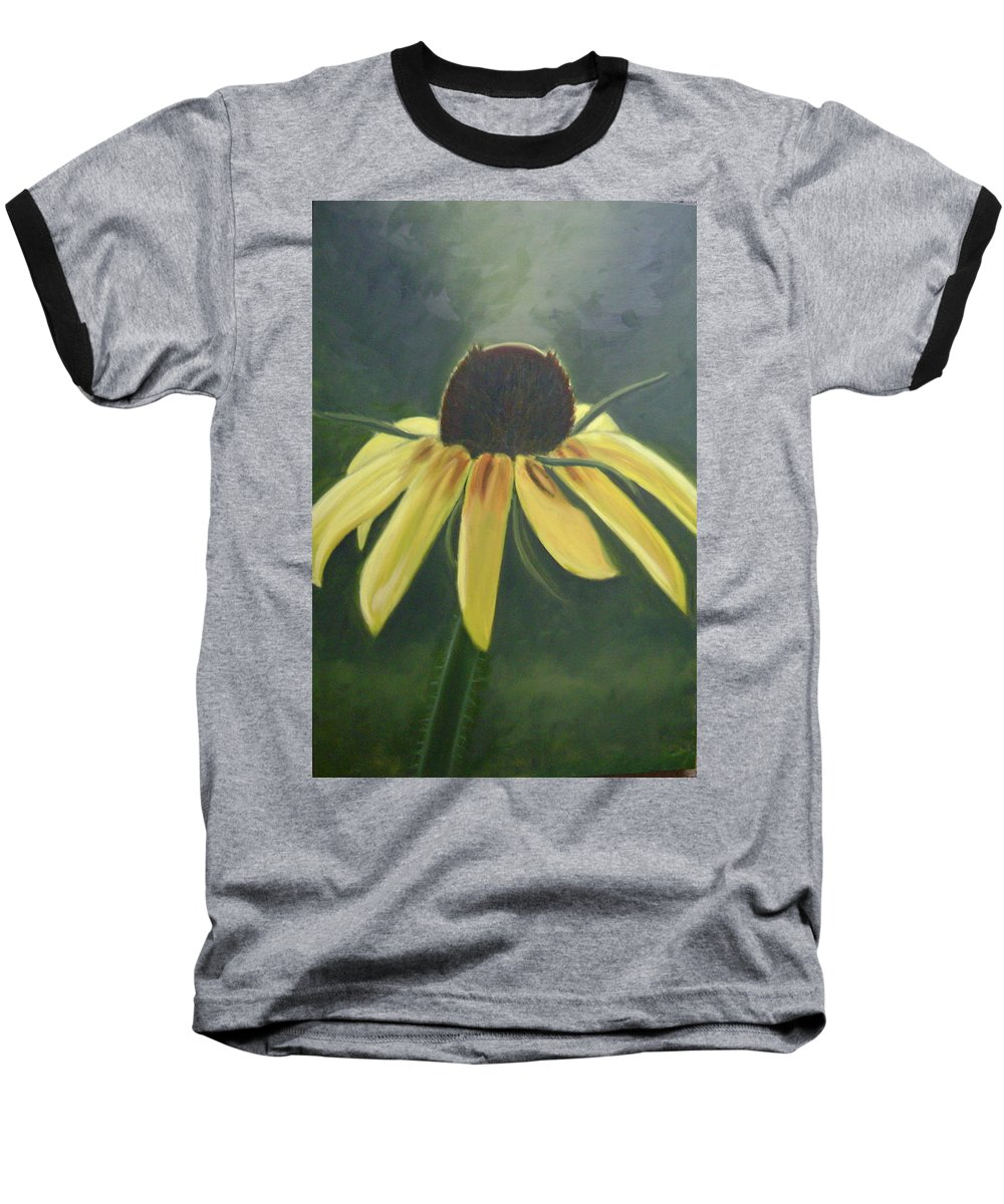 Flower Baseball T-Shirt featuring the painting Black Eyed Susan by Toni Berry