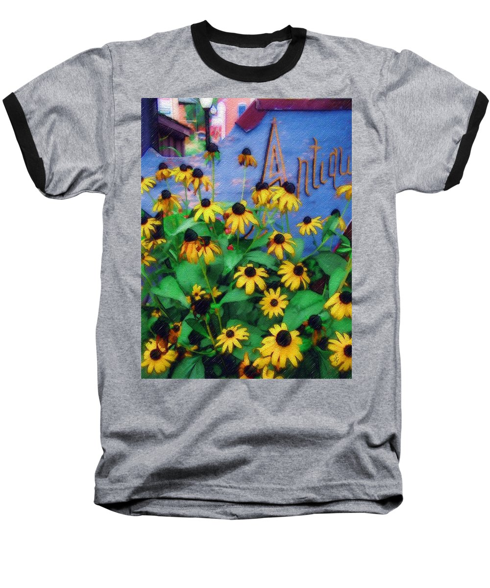 Flowers Baseball T-Shirt featuring the photograph Black-eyed Susans At The Bag Factory by Sandy MacGowan