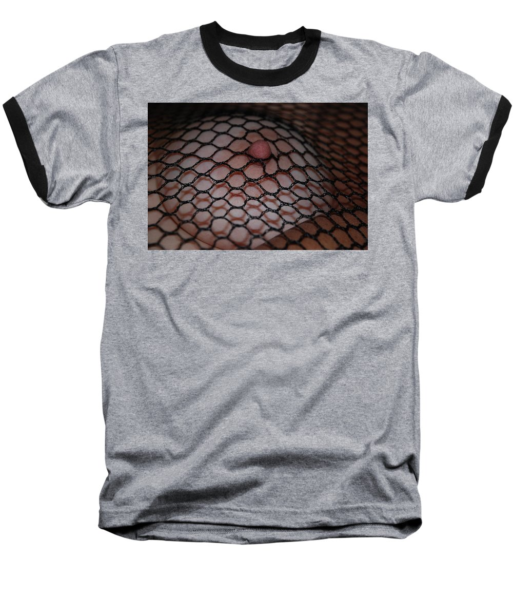 Sexy Baseball T-Shirt featuring the photograph Black Fishnet by Rob Hans