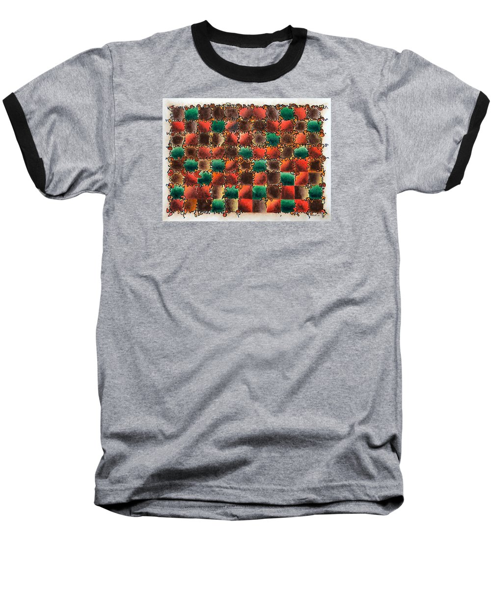 Abstract Baseball T-Shirt featuring the painting Black Forest Cake by Dave Martsolf