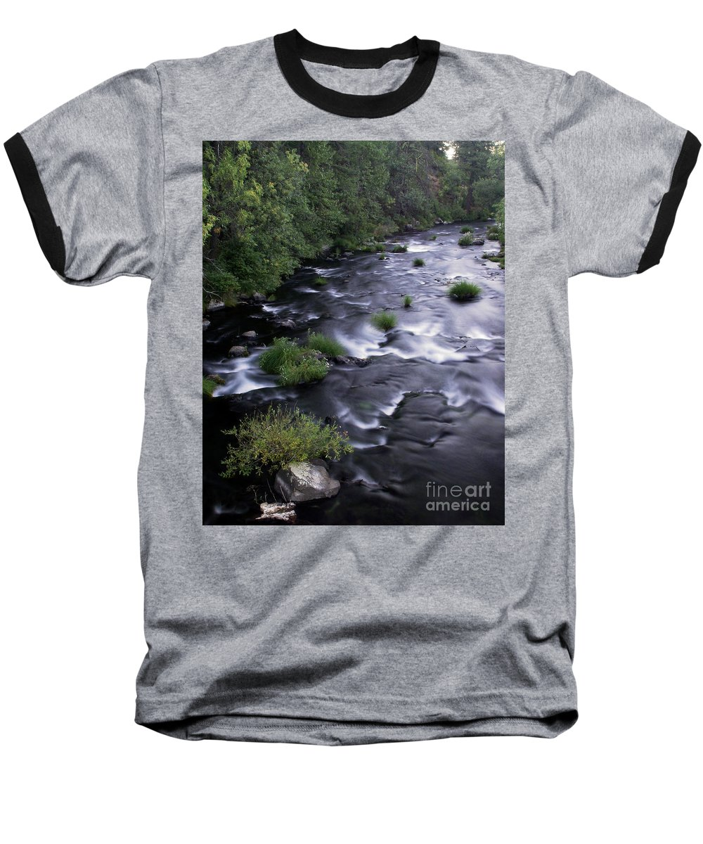 River Baseball T-Shirt featuring the photograph Black Waters by Peter Piatt