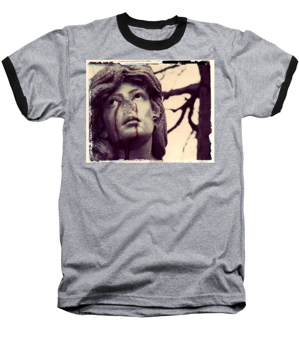 Polaroid Baseball T-Shirt featuring the photograph Blood Is The New Black by Jane Linders