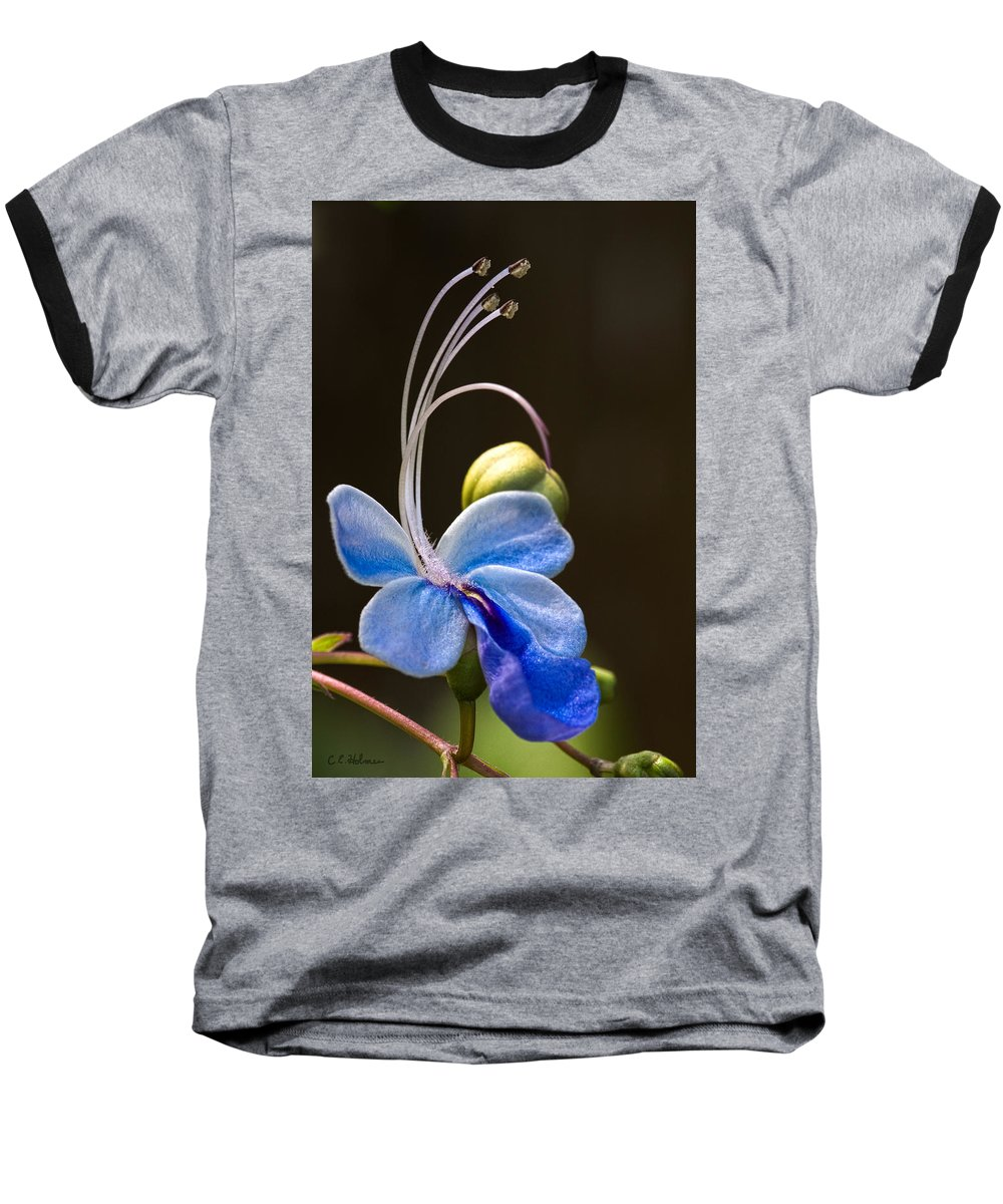 Flower Baseball T-Shirt featuring the photograph Blooming Butterfly by Christopher Holmes