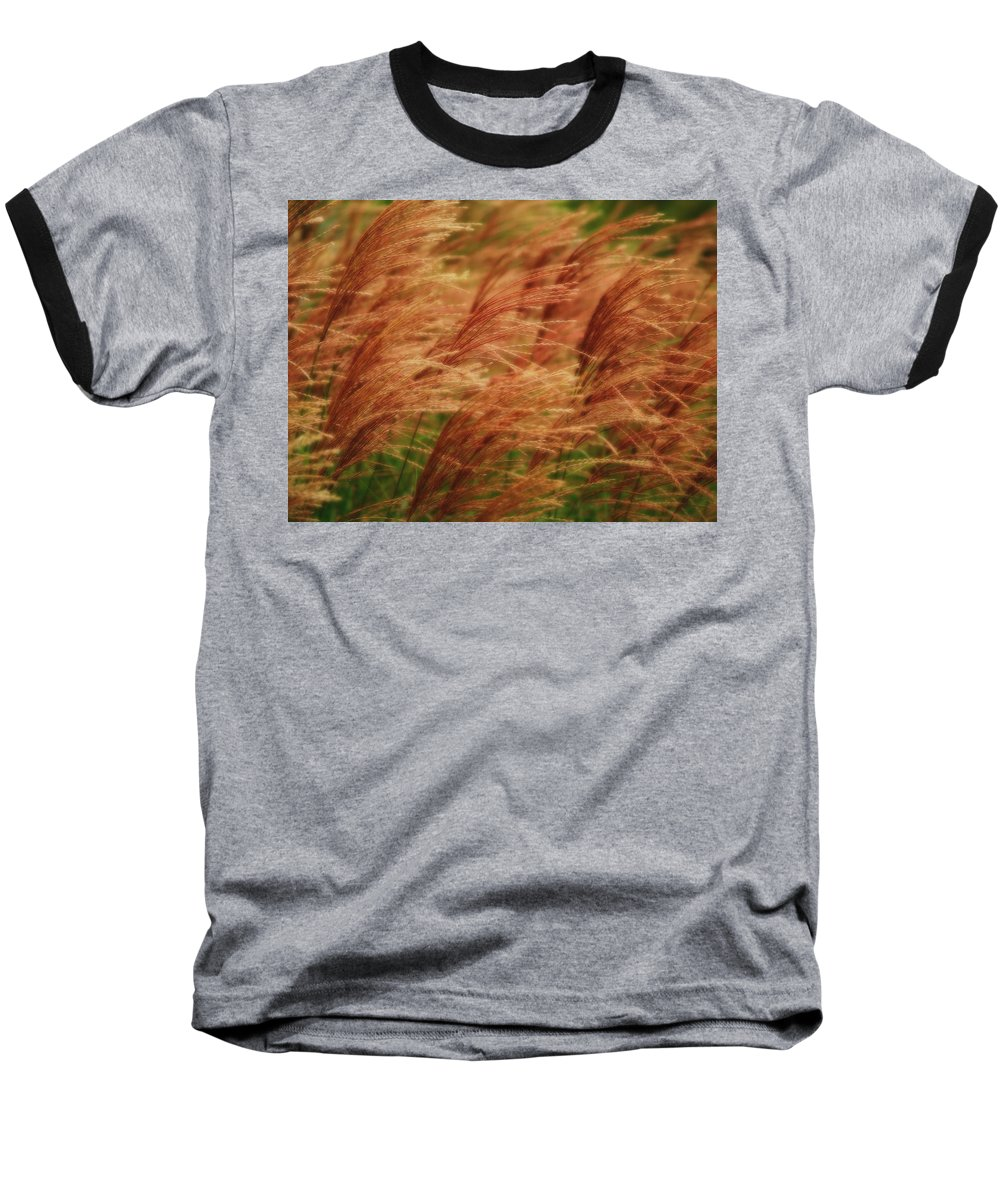 Win Baseball T-Shirt featuring the photograph Blowing In The Wind by Gaby Swanson