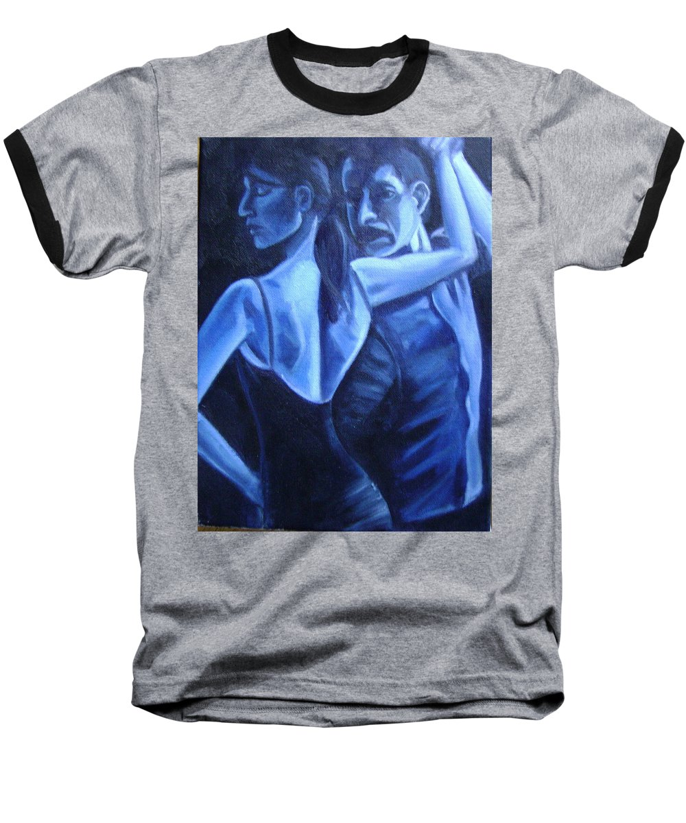 Baseball T-Shirt featuring the painting Bludance by Toni Berry