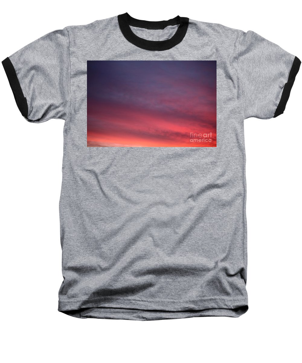 Sunset Baseball T-Shirt featuring the photograph Blue And Orange Sunset by Nadine Rippelmeyer