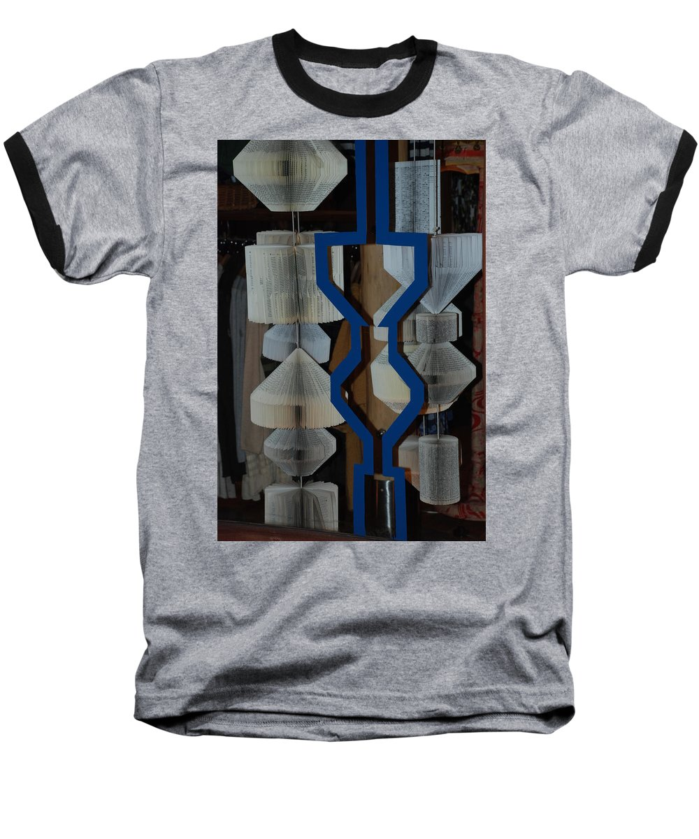 Window Baseball T-Shirt featuring the photograph Blue And White by Rob Hans