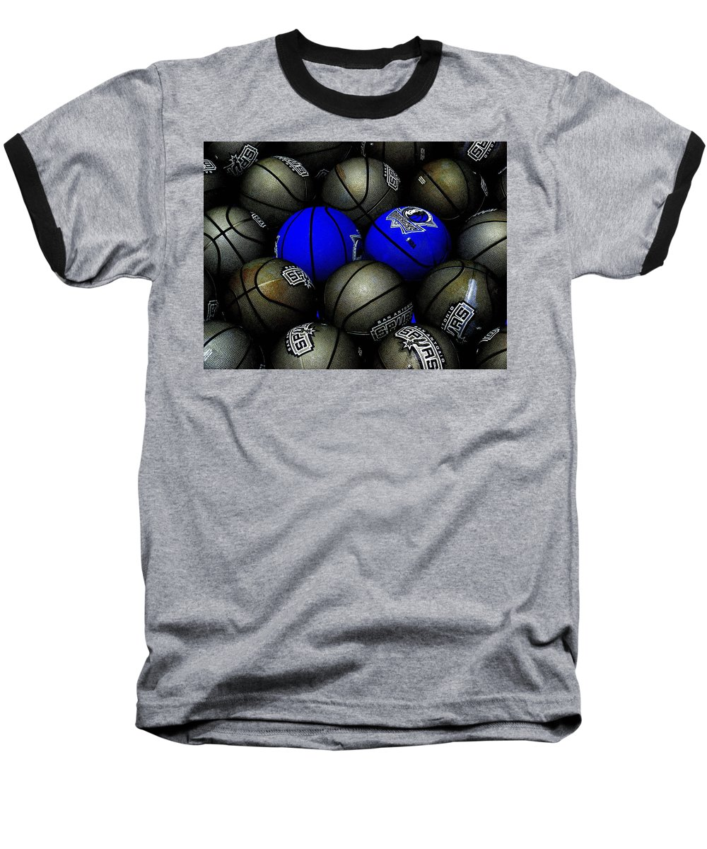 Basketball Baseball T-Shirt featuring the photograph Blue Balls by Ed Smith