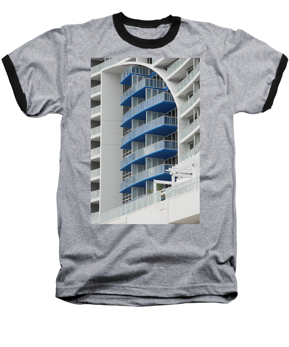 Architecture Baseball T-Shirt featuring the photograph Blue Bayu by Rob Hans