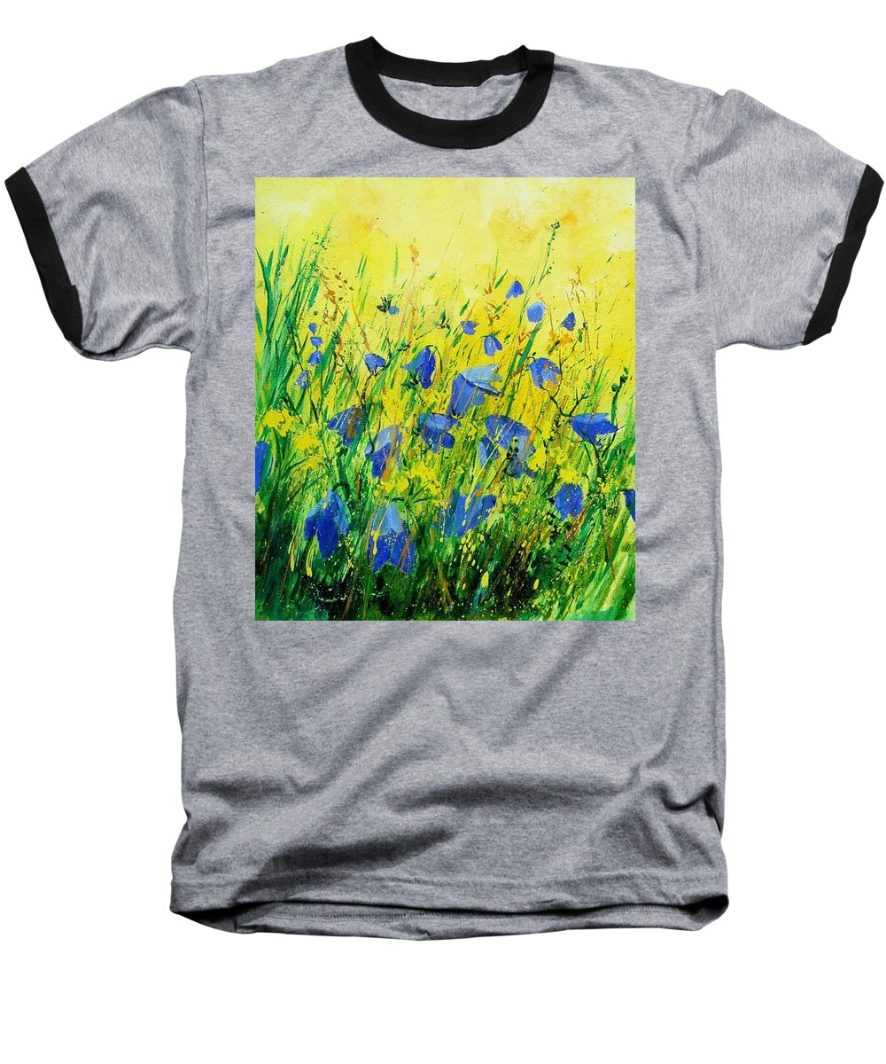 Poppies Baseball T-Shirt featuring the painting Blue Bells by Pol Ledent